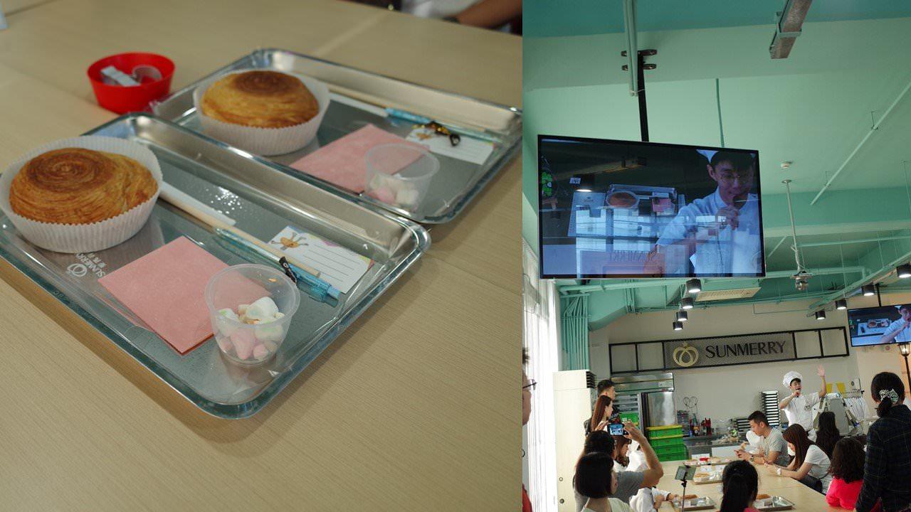 左:製作材料 右:大電視即時教學
