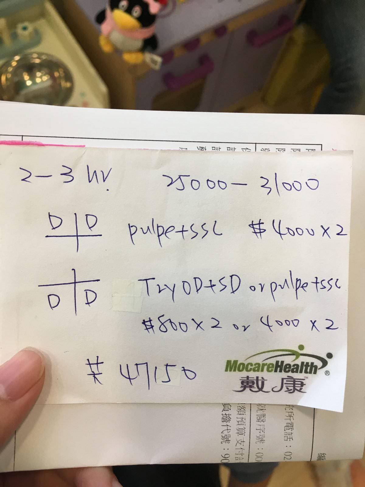 手術費用預估單